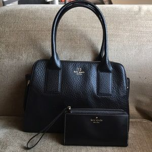 Kate Spade Leather Bag with Matching Wallet